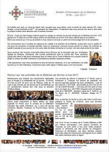 Bulletin N°59 Juin 2017