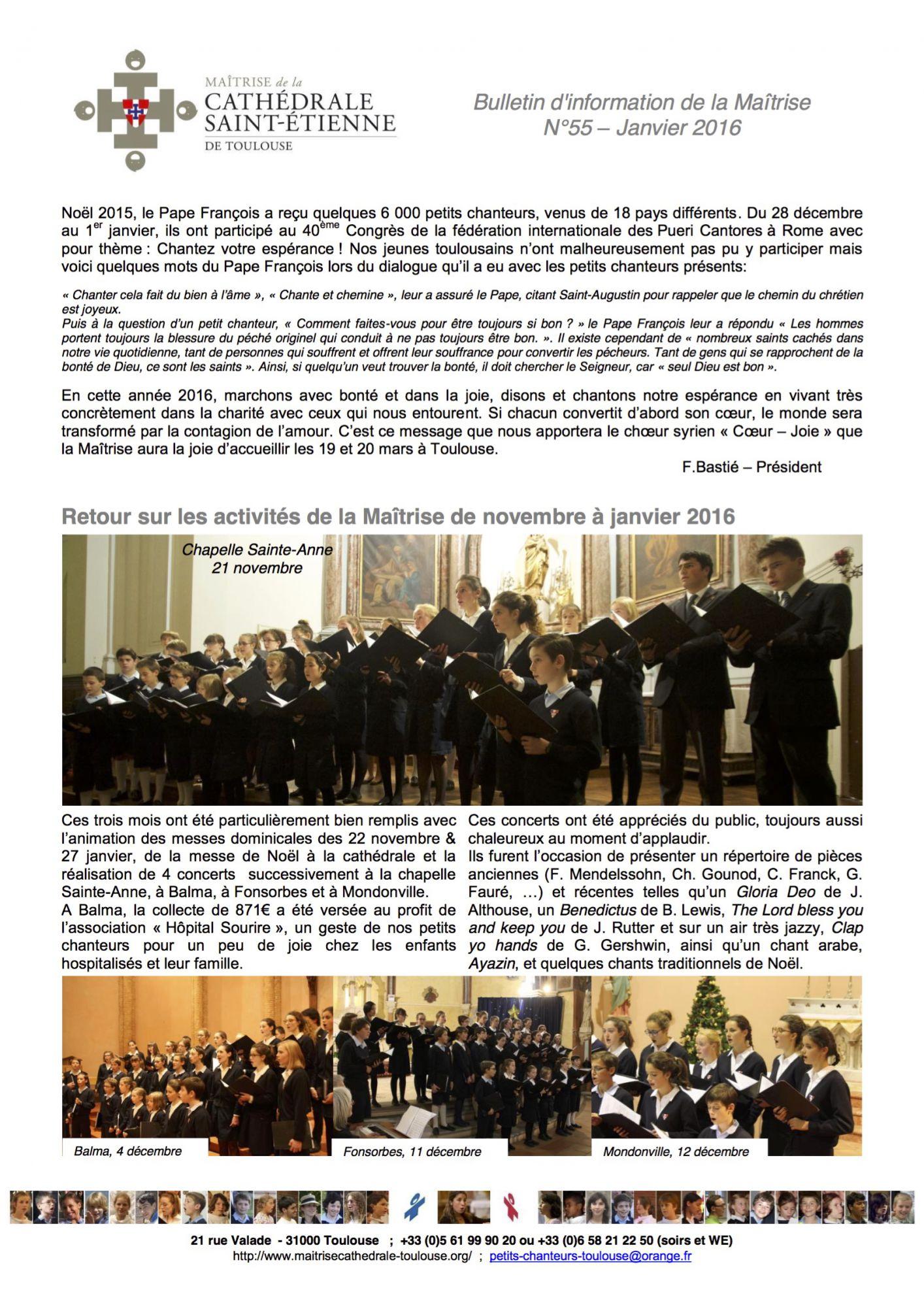 Bulletin No-55 Janvier 2016