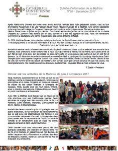 Bulletin N°60 Décembre 2017