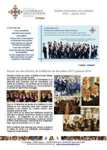 Bulletin N°61 Janvier 2018