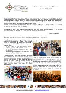 Bulletin N°62 Mai 2018
