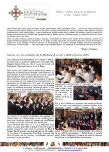 Bulletin N°64 Février 2019